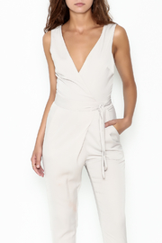 Lush Wrap Front Sleeveless Pantsuit - Front cropped