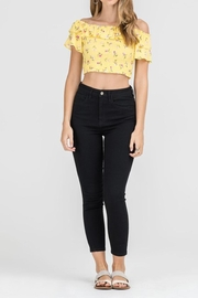 Lush Yellow Floral Crop - Product Mini Image