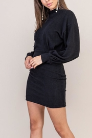Lush Clothing  Black Sweater Dress - Front cropped