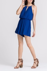 Lush Clothing  Blue Keyhole Romper - Product Mini Image