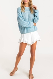 Lush Clothing  Blue Knit Sweater - Side cropped