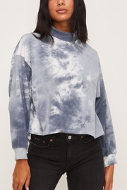 Lush Clothing  Blue Tie-Dye Top - Product Mini Image
