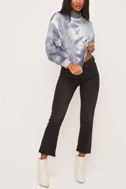 Lush Clothing  Blue Tie-Dye Top - Front full body