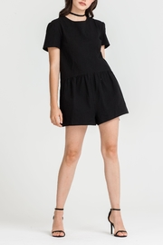 Lush Clothing  Boxy Bak-Tie Romper - Front cropped