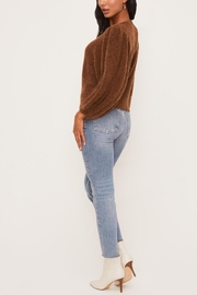 Lush Clothing  Brown Balloon-Sleeve Sweater - Other