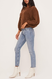 Lush Clothing  Brown Balloon-Sleeve Sweater - Back cropped