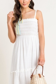 Lush Clothing  Cami Tiered Midi-Dress - Back cropped