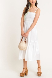Lush Clothing  Cami Tiered Midi-Dress - Front cropped