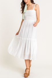 Lush Clothing  Cami Tiered Midi-Dress - Front full body