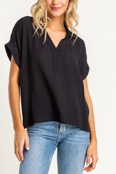 Lush Clothing  Collared Top - Black - Product List Image