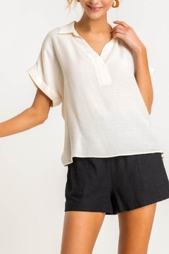 Shoptiques Product: Collared Top - Cream