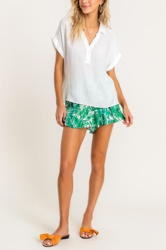 Lush Clothing  Collared Top - White - Product List Image