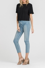Lush Clothing  Eyelet Ruffle-Sleeve Top - Side cropped