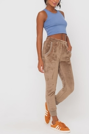 Lush Clothing  Faux-Fur Cuffed Jogger-Pants - Back cropped
