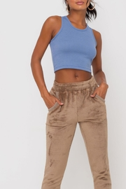 Lush Clothing  Faux-Fur Cuffed Jogger-Pants - Other