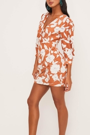 Lush Clothing  Floral Surplice Dress - Side cropped