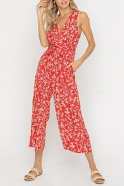 Lush Clothing  Floral Waist-Tie Jumpsuit - Front cropped