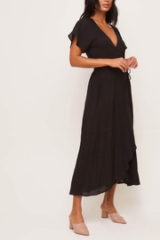 Lush Clothing  Flutter-Sleeve Wrap Maxi-Dress - Front cropped
