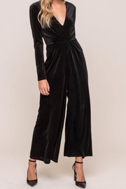 Lush Clothing  Gathered Velvet Jumpsuit - Product Mini Image
