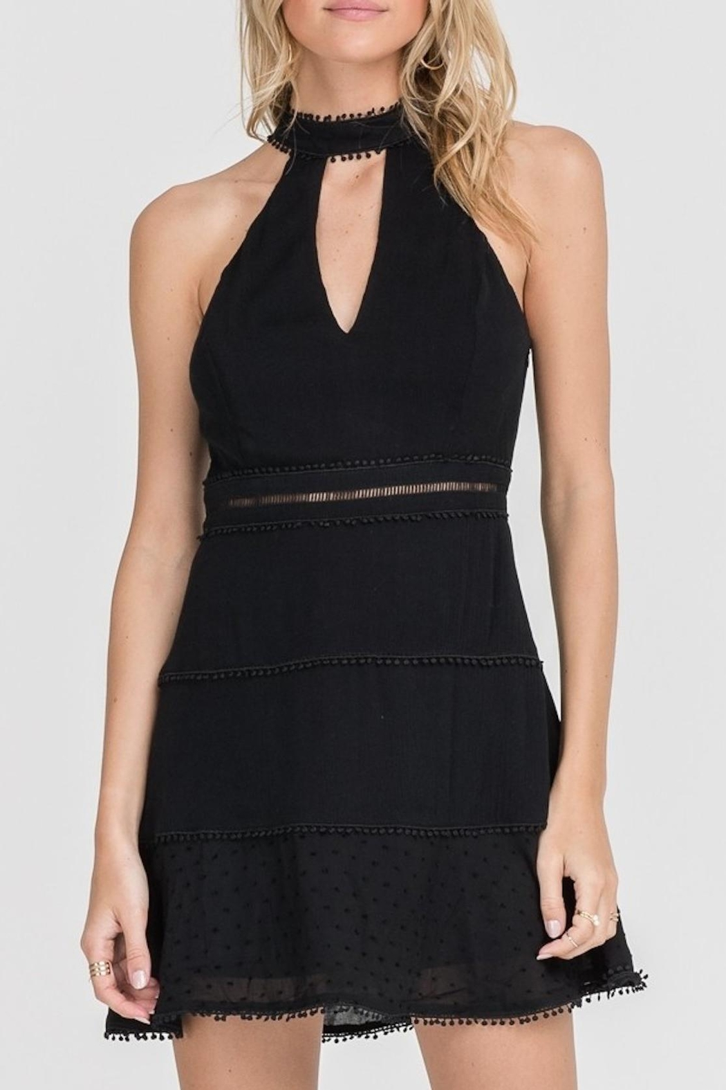 Lush Clothing  High-Neck Mini Dress - Main Image