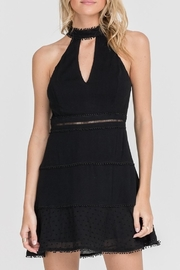 Lush Clothing  High-Neck Mini Dress - Front cropped