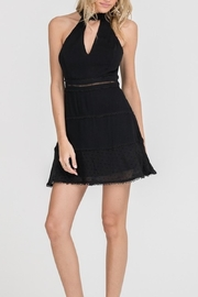 Lush Clothing  High-Neck Mini Dress - Front full body