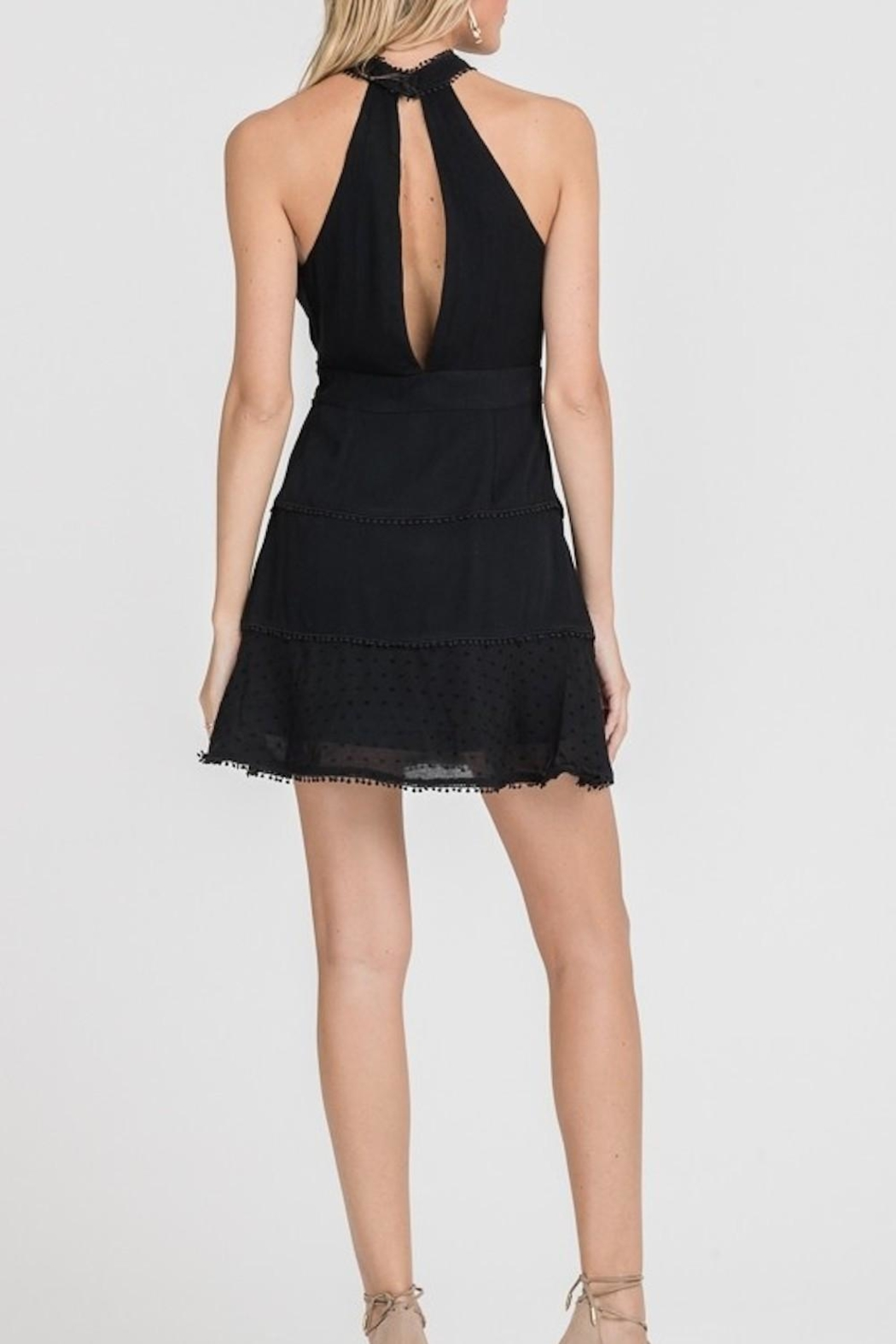 Lush Clothing  High-Neck Mini Dress - Side Cropped Image