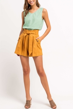 Lush Clothing  High-Waisted Paperbag Shorts - Product List Image