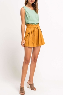 Lush Clothing  High-Waisted Paperbag Shorts - Alternate List Image