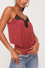 Lush Clothing  Lace Cami Bodysuit - Side cropped