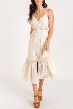Lush Clothing  Lace-Detail Tiered Midi-Dress - Product List Image