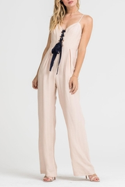 Lush Clothing  Lace-Up Corset Jumpsuit - Front cropped