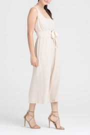 Lush Clothing  Lace-Up Waist Jumpsuit - Front full body