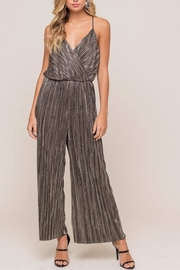 Lush Clothing  Metallic Surplice Jumpsuit - Product Mini Image