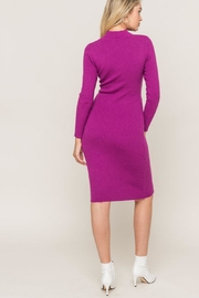 Lush Clothing  Mock-Neck Front-Tie Sweater0dress - Other