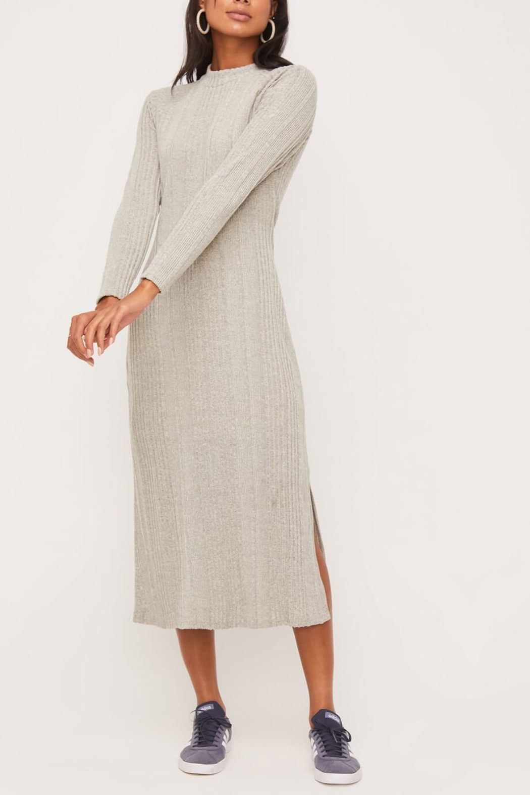 Lush Clothing  Mock-Neck Knit Dress - Back Cropped Image
