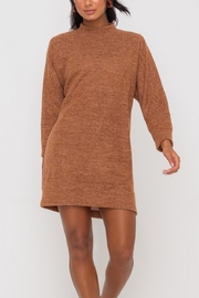 Lush Clothing  Mock-Neck Knit-Dress - Hazel - Back cropped