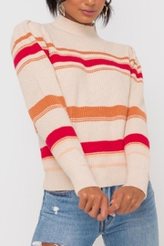 Lush Clothing  Mockneck Multistripe Pullover-Sweater - Product Mini Image
