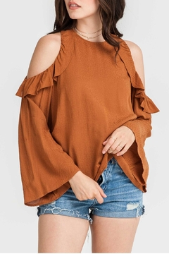 Shoptiques Product: Rust Ruffle Top