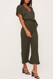 Lush Clothing  Olive Wrap-Front Dolman-Jumpsuit - Product Mini Image