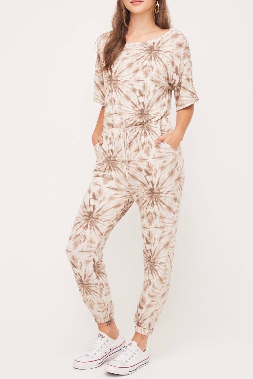 Lush Clothing  Print Lounge Jumper - Side Cropped Image