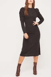 Lush Clothing  Puff-Shoulder Knit Dress - Front cropped