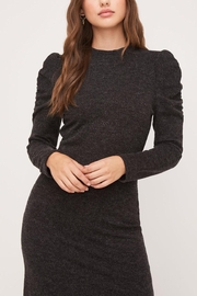 Lush Clothing  Puff-Shoulder Knit Dress - Side cropped