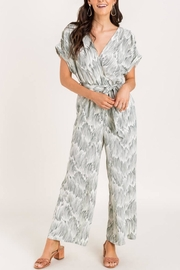 Lush Clothing  Sage Printed Jumpsuit - Product Mini Image