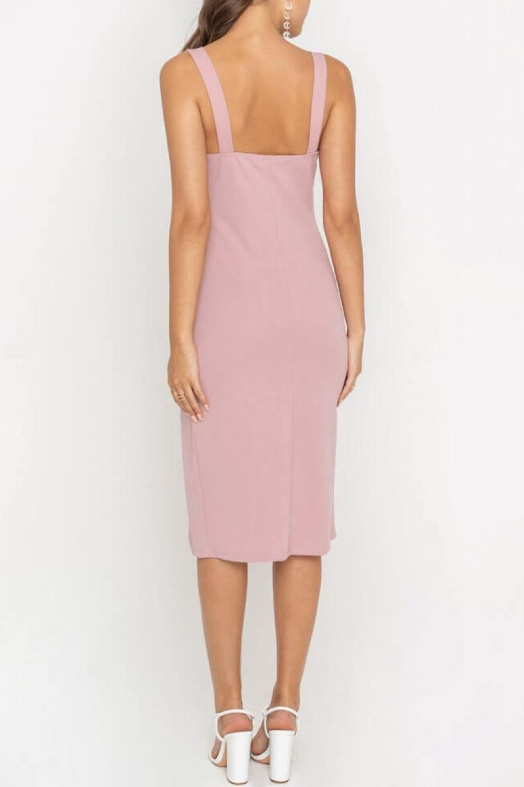 Lush Clothing  Side-Slit Fitted Cocktail-Dress - Side Cropped Image
