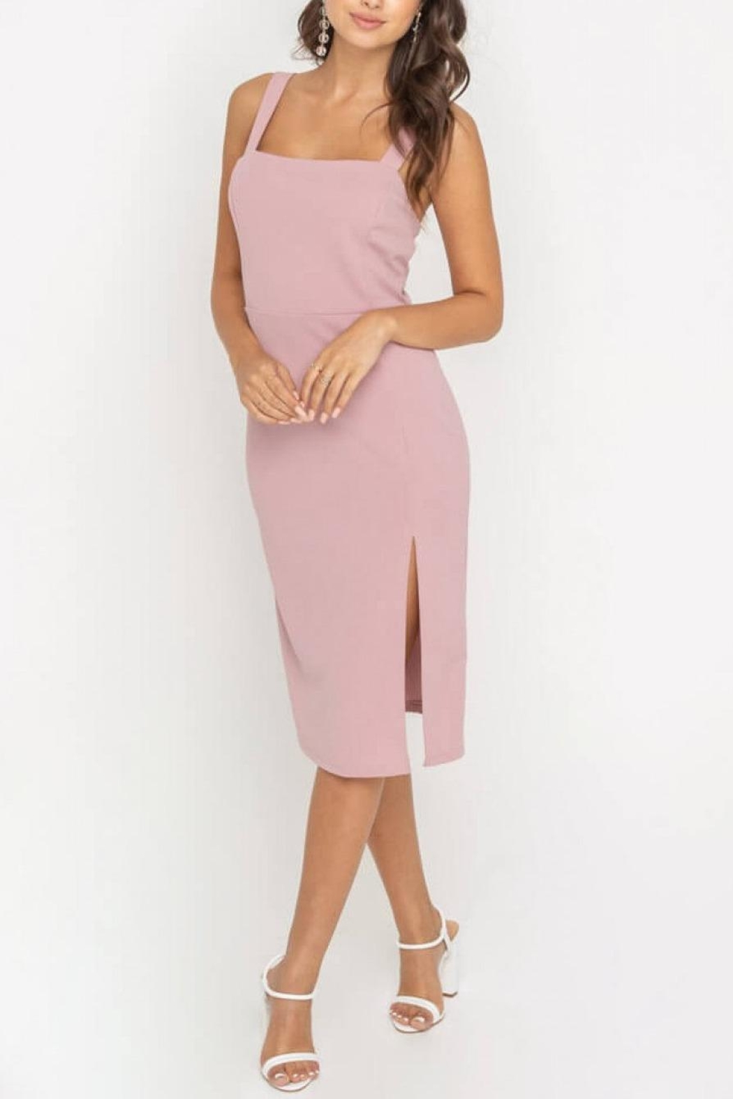Lush Clothing  Side-Slit Fitted Cocktail-Dress - Main Image