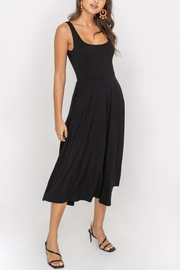 Lush Clothing  Square-Neckline Jersey Midi-Dress - Front cropped