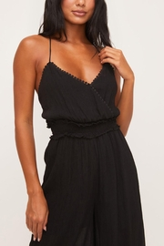 Lush Clothing  Strappy-Back Smocked Jumpsuit - Back cropped