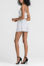 Lush Clothing  Striped Belted Shorts - Side cropped