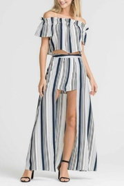 Lush Clothing  Striped Set Maxi-Shorts - Product Mini Image